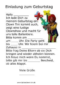 Kindergeburtstag Nürnberg - Kindergeburtstag Fürth - Einladungen ...