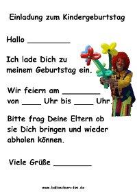 kindergeburtstag nürnberg - kindergeburtstag fürth - einladungen, Einladung